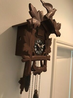 West Germany Cookoo Clock - Wood Vintage Musical