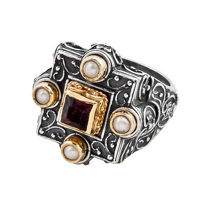 D257 ~ Sterling Silver & Swarovski Medieval Cocktail Ring
