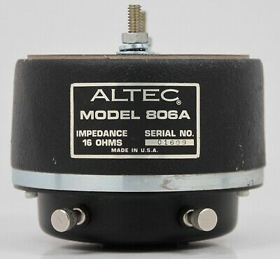 (B) Vintage ALTEC Lansing 806A HORN Tweeter DRIVER 30W 16Ω USA - Works GREAT
