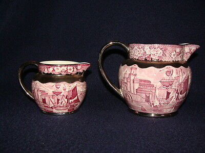 Wedgwood & Barlaston of Etruria 2 creamer pitchers jugs nautical