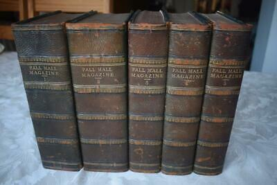 ANTIQUE VINTAGE 1st EDITION THE PALL MALL MAGAZINE BOOKS 1-5 FROM 1893-1895