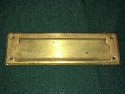 """Antique Vintage BRASS LETTER MAIL SLOT 10 1/8"""" Long x 3"""" Tall"""