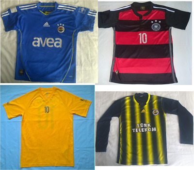 Lot Of Four Mens Size Small Soccer Jerseys Fenerbahce Messi Adidas Germany Nice