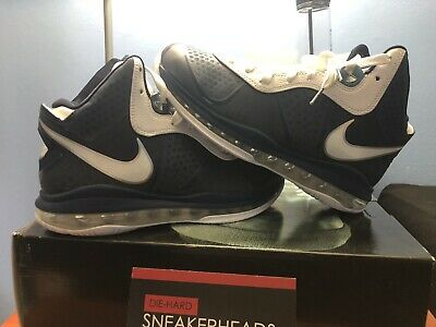 ebd2fae6bc59 NIKE LEBRON VIII 8 V 2 Midnight Navy Silver New York Yankees 429676 ...