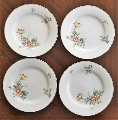 Lot of 4 NORITAKE China COQUET  Pattern Bread & Butter Plates 6 1/4""