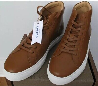 d0b4742c8ee NWT - GREATS The Royale High Solid Brown Leather Mens Shoes Sneakers ...