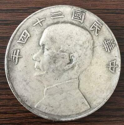 Republic Of China 24 years Fat Man silver plated Dollar Coin collection