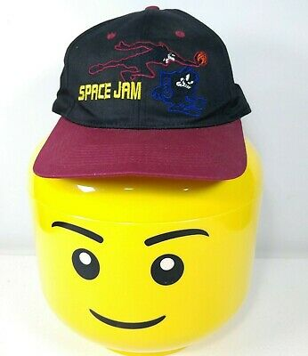 7a1f89a9 VTG Rare Official Space Jam Taz Outline hat/cap Broken Snapback Strap 1996  dad
