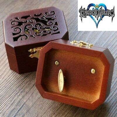 WOODEN OCTAGON CARVING MUSIC BOX : ♫ Kingdom Hearts Theme Soundtrack ♫