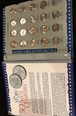 The Official US Mint 50 State Quarters 1999-2008 with 100 Coins