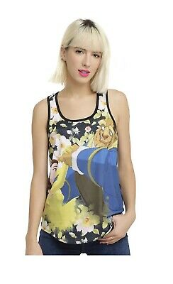 Disney Beauty and The Beast Tank Top Black Size XXL