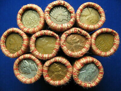 "@ 10 Lincoln Wheat Cent Penny Rolls ""500 Coins"" From Old Oregon Estate Horde @"