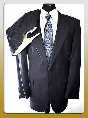Joseph & Feiss 42R/34W Charcoal gray 2 Button Mens Wool Suit Notched Lapels