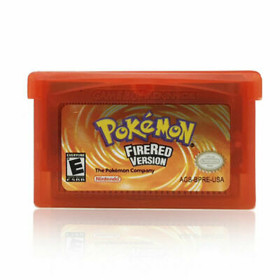 Red Fan Advance Gameboy Cartridge Game Card For Pokemon NDSL/GBC/GBM/GBA/SP