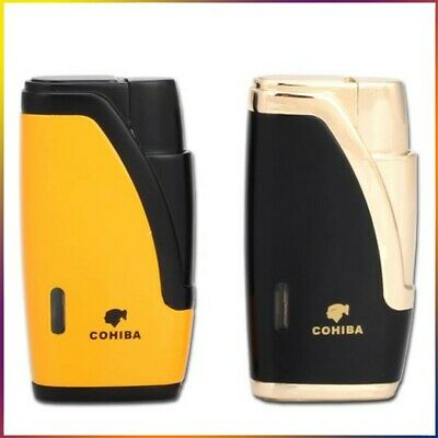 COHIBA Classic 2 Jet Flame Cigar Windproof Torch Lighters Cigarette With Punch