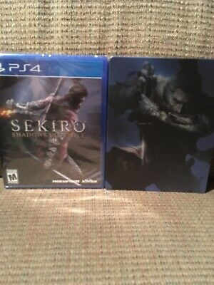 Sekiro: Shadows Die Twice (PS4, 2019) + US Steelbook, Sealed with Free Shipping!