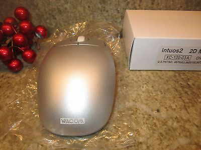 Wacom Intuos2 2D Drawing Tablet Wireless Mouse Silver XC-100-03A
