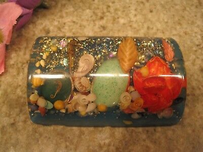 Vintage Acrylic Lucite Sea Life Shells, etc. Paperweight Paper Weight