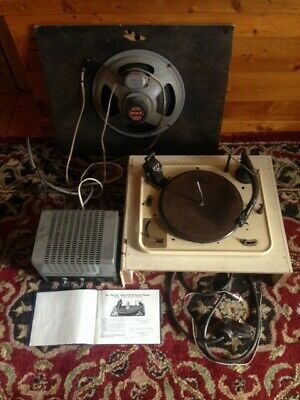 Vintage 1950's Original GARRARD RECORD PLAYER Model R C 90 Turntable ROLA 12-0