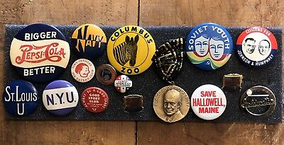Estate Collection Of Vintage Buttons Medals...No Junk LOOK Great Resale Value!
