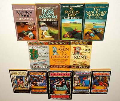 12 Ellis Peters Brother Cadfael Medieval Mystery Paperback Books Detective Lot