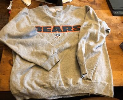 Vintage Chicago Bears Nfl Sweatshirt Size Xl Official Reebok Team Apparel