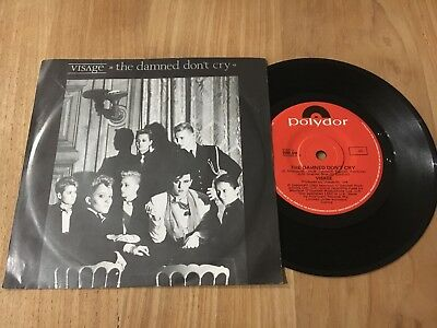 """Visage The Damned Don't Cry Picture Cover 2095 445 Vinyl 7"""" Australian 45"""
