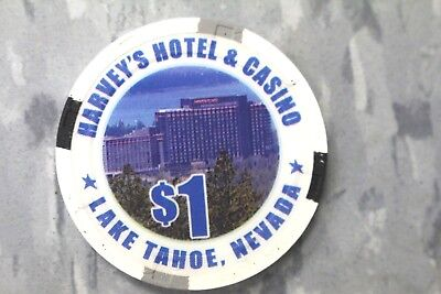 Harvey's Casino, Lake Tahoe $1 WSOP World Series Of Poker Chip by PAULSON