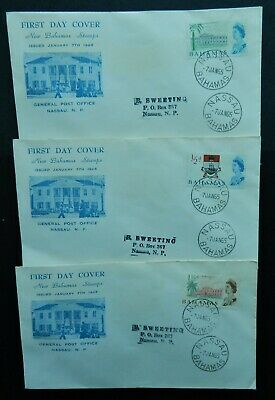 Bahamas First Day Covers 1965 1/2d, 1 1/2d, 2d