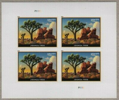 Us Nature 2019 Scott #5347 Joshua Tree $7.35 Priority Mail Pn111 Stamp Block Nip
