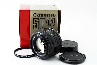 [ Near MINT IN BOX ] Canon New FD 50mm f/1.4 Lens  From Japan #0191