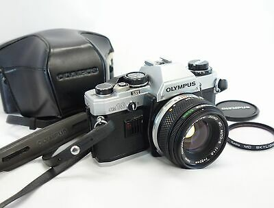 **Near Mint** OLYMPUS OM10 ZUIKO MC Auto-S 50mm F/1.8 w/ Case Filter from Japan