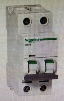 Schneider ACTI9 iC60N MINIATURE CIRCUIT BREAKER 2-Poles 415V C-Curve- 32A Or 40A