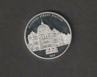Flinders St Station  Proof Medal. 175 Years Of Melbourne. Lovely Piece.