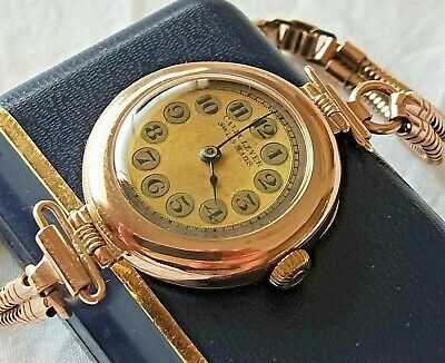 Rolex Calix Lever 9ct Gold Ladies Watch C1920s Ultra Rare One Of A Kind
