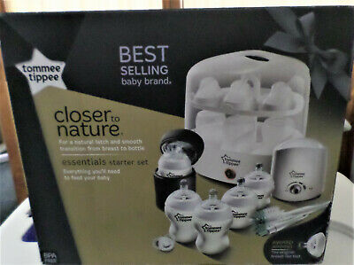 Tommee Tippee Essentials Starter Set~Closer To Nature~Hooded Towel Set & Wraps