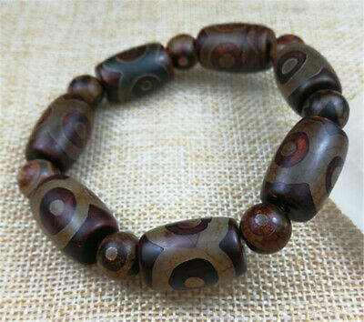 14MM 100% Natural Red Ancient agate beads JADE bracelet