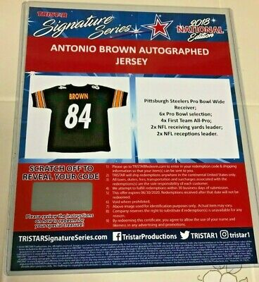 separation shoes 827b0 a059c ANTONIO BROWN AUTOGRAPHED Pittsburgh Steelers Jersey TRISTAR COA REDEMPTION