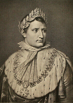 A Fine c19th Engraving, British Museum 1898, Napoleon, Morghen after Tofanelli