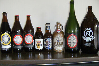Collection Lot of 8 beer bottles- inc Coopers, Darwin Stubbie - Pickup Adelaide
