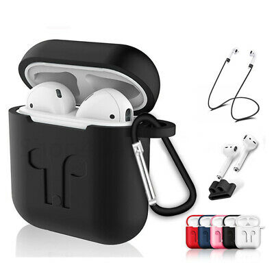 Apple Airpods Case Cover Skin Shockproof Anti Lost Strap Holder Airpod case