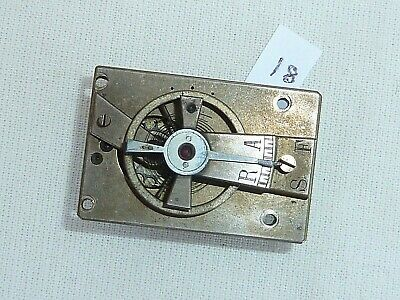 Old Silvered Carriage Mantle Clock Platform Cylinder Escapement  34.5mm x 23mm