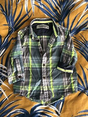 Next Baby Toddler Boys Checked Shirt 12-18 Months