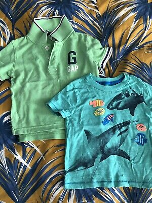 Gap Baby Toddler Boys Summer T-Shirts 18-24 Months