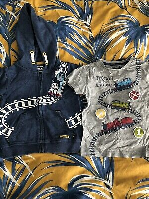 Thomas The Tank M&S Baby Toddler Boys T-Shirt And Hoodie Set 12-18 Months
