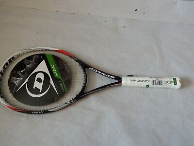 """Dunlop Biomimetic M3.0 Biofibre Aeroskin Tennis Racket with cover G4 4 1/2"""" chip"""