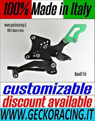 Adjustable Rearsets for Benelli Tnt 100% Made in Italy | GeckoRacing