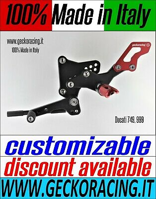 Adjustable Rearsets for Ducati 749, 999 100% Made in Italy | GeckoRacing