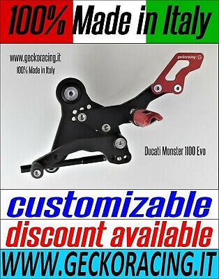 Adjustable Rearsets for Ducati Monster 1100 Evo 100% Made in Italy | GeckoRacing