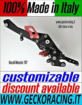 Adjustable Rearsets for Ducati Monster 797 100% Made in Italy | GeckoRacing